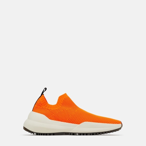 Zara Stretch Fabric Sneaker Neon Orange